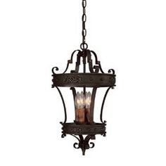 Island Lights- Check out the Capital Lighting 9354RI River Crest 4 Light Rustic Iron Foyer Fixture priced at $304.00 at Homeclick.com.