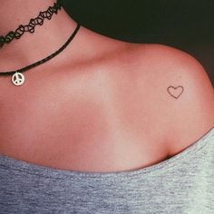 Just a small heart tatto in the shoulder.