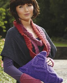 love the idea of knitting a lace trim style pattern using an unexpectedly chunky yarn! - via The Mirasol Project blog