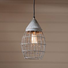 Small Farmhouse Cage Light in Weathered Zinc- Our simple styled Small Farmhouse Cage Pendant is perfect in an old farmhouse or used in your farmhouse decor. This simple grid design also blends well with any style from country and primitive to coastal Primitive Lighting, Antique Lighting, Rustic Lighting, Lighting Ideas, Outdoor Lighting, Lighting Design, Hallway Lighting, Living Room Lighting, Strip Lighting
