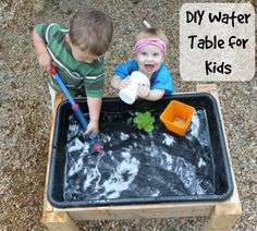 diy water table for kids