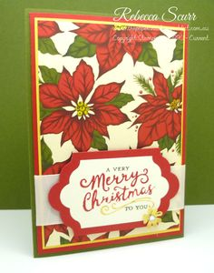 Week 1 - 12 weeks of Christmas blog series - Reason for the Season stamp set, Home for Christmas DSP - Rebecca Scurr - Independent Stampin' Up! demonstrator - www.facebook.com/thepaperandstampaddict