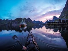 Beautiful Norway's Fjords from the Perspective of a Kayaker
