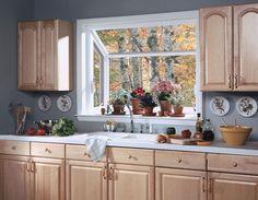 Interior view a kitchen garden greehouse window above a sink