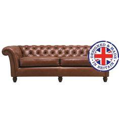 Canapé trois places en cuir CAMBRIDGE