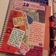 mygreencow:    Smash book page! #smash #smashbook #page #top10