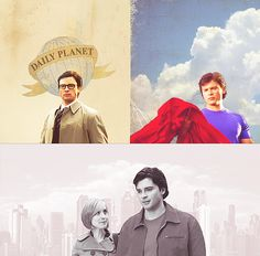Chloe: Clark, maybe you can have your cape and wear it, too. Say that Clark Kent, the unassuming journalist, buttoned up in a starched shirt and tie, but then, when he's playing the hero, he —Clark:steps out of the shadow into his red and blue, creating two completely separate identities?