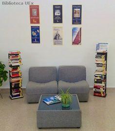 Rincón de #lectura de la #biblioteca de la Facultad de Estudios Empresariales y Turismo de la UEx