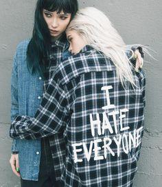 "Jac Vanek - ""I Hate Everyone"" Flannel"