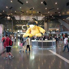 Und so schnell geht's - schon wieder am Flughafen in Doha #taipan_Malaysia #taipan_katar