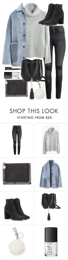 """Untitled #19377"" by florencia95 ❤ liked on Polyvore featuring H&M, Madewell, STELLA McCARTNEY, Burberry, Yves Saint Laurent, Michael Kors and NARS Cosmetics"