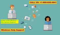 Windows Support for Unable to Run Windows 7 After System Diagnose Tech Support, Microsoft Windows, Windows 10, Family Guy, Tools, Running, Free, Racing