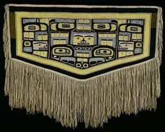ate 19th century  North America, Northwest Coast: Tlingit/Chilkat  Mountain-goat wool, yellow cedar bark  w. 172.7 cm  UEA 667  Sainsbury Centre for Visual Arts