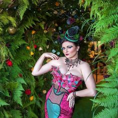 Enchanted Rose Launch with wearing Wendy Louise jewellery and Belle Folie headpiece couture by Enchanted Rose, Flower Market, One And Only, Wearable Art, Headpiece, Hair Makeup, Product Launch, Couture, Burlesque