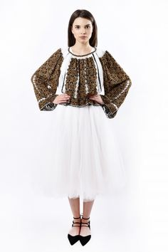 Romanian Blouse is very popular world wide. It can be the attraction of your outfit for an engagement ceremony or a wedding. *by Romanian Designer Izabela Mandoiu