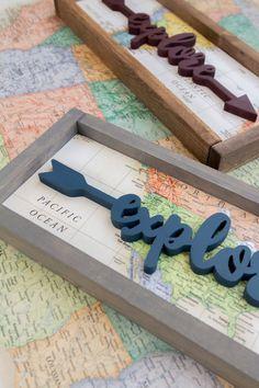 explore | travel | handmade wood signs | rustic | farmhouse | home decor