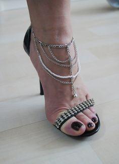 Gypsy Chain Anklet  - Elegant Anklet,gift for Her,Boot Bling Anklet ,Nesrin Design $30