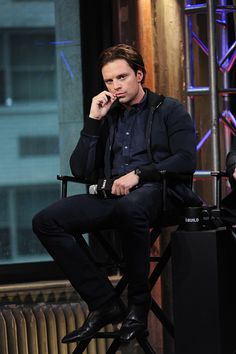 Sebastian Stan attends AOL Build Presents 'Captain America Civil War' at AOL Studios In New York on May 4 2016 in New York City