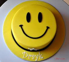 smiley face 1st birthday cake - Google Search