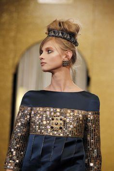 Chanel byzance 2011  I'd take a more demure version of that hairpiece for updos.