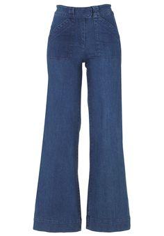 High-Waist Wide Leg Jeans, STONEWASH, hi-res