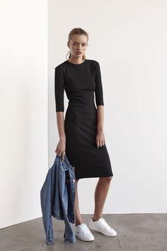 Persia 3/4 Sleeve Dress | Black Crawford Jacket | Vintage Denim www.viktoriaandwoods.com.au