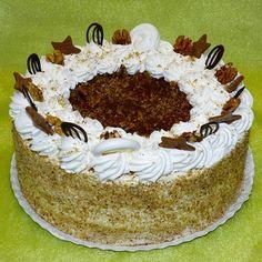 Somlói galuska torta recept Hungarian Food, Hungarian Recipes, Waffle Cake, Tiramisu, Waffles, Sweets, Make It Yourself, Ethnic Recipes, Cakes