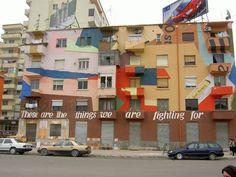 Colorful building in Tirana - Edi Rama - Wikipedia