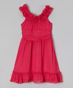 Fuchsia Ruffle Dress - Toddler & Girls #zulily #zulilyfinds