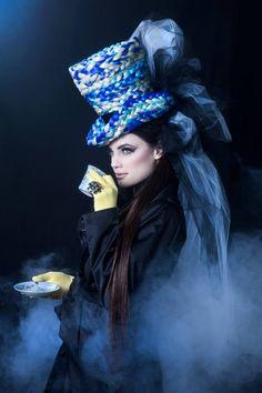 #blue MAD HATTER by Jana Cruder for SEVEN Magazine Editorial  design-dautore.com
