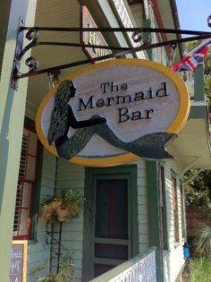 Mermaid Bar at Florida House Inn, Amelia Island, FL. Also the turtle bar next door has the cheapest happy hour. Vacation Places, Vacation Spots, Places To Travel, Oh The Places You'll Go, Moving To Florida, Florida Travel, Mermaid Bar, Amelia Island Florida, Fernandina Beach