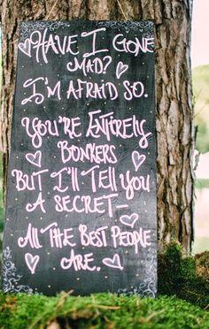 The Wedding Decorator: Alice in Wonderland Wedding - A Few Details!