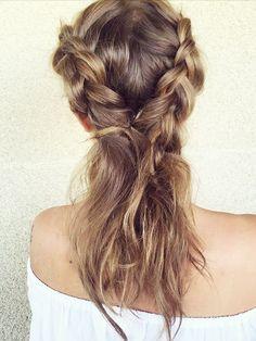 3 Genius Festival Hair Ideas From Millie Mackintosh via @ByrdieBeautyUK