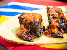 """Cola-Glazed Short Ribs (Star-Spangled Spread) - Sunny Anderson, """"The Kitchen"""" on the Food Network. Rib Recipes, Grilling Recipes, Cooking Recipes, Smoker Recipes, Recipies, Traeger Recipes, Pasta Recipes, Cooking Tips, Dinner Recipes"""