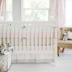 Sweet and charming best describes our Cross my Heart Baby Bedding Collection - Jack and Jill Boutique