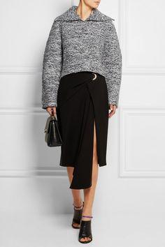 Balenciaga|Wool-blend bouclé top|NET-A-PORTER.COM