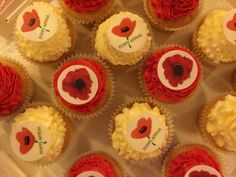 Poppy Appeal cupcakes