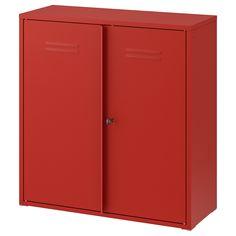 IVAR Armario con puertas, rojo, 80x83 cm. El sistema de almacenaje IVAR es tan práctico que responde a todas las necesidades de nuestros clientes en cualquier estancia del hogar desde hace 50 años. En salones, despensas, garajes, dormitorios… IVAR combina en todas partes.