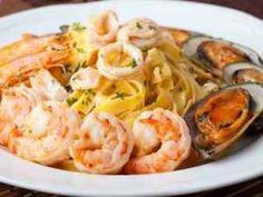 Prawn Pasta Recipe: Italian  Sea Food Mix!