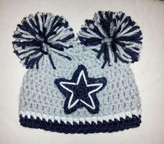 Crocheted Dallas Cowboys Hat by TinyTippyToppers on Etsy bc292637d3a3