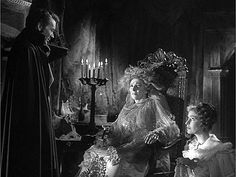 Scene from Great Expectations with Martita Hunt as Miss Haversham & John Mills as Pip