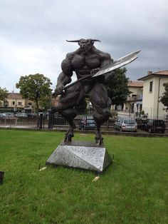 Exhibition Bornato- Italy / Minotaur / Minotauro / Scrap Metal / Sculpture /