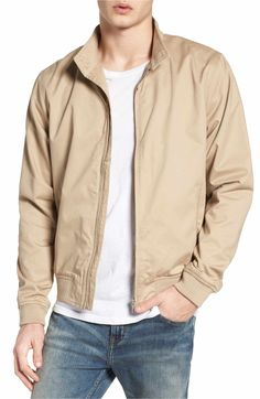 Stone Navy Sizes S M L XL BEN SHERMAN Boys Harrington Jacket Cotton Colours