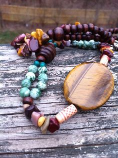 Tiger in the Woods Tiger's Eye and Mookaite by missioncatnip, $40.00