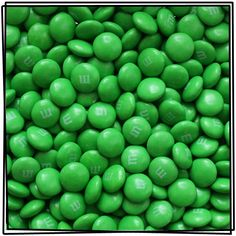 Candy Art...By Artist Unknown... Green M & M's...<3