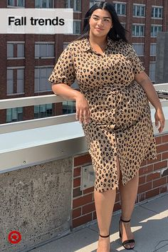 Try a leopard-print dress as a neutral fall trend you can wear to work, at night & on the weekend. Thick Girl Fashion, Curvy Fashion, Plus Size Fashion, Fashion Art, Fashion Socks, Ladies Fashion, 90s Fashion, Editorial Fashion, Style Fashion