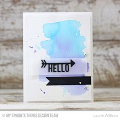 Arrow Greetings Die-namics, Wonky Stitched Rectangle STAX Die-namics - Laurie Willison   #mftstamps
