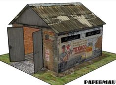 The Old Garage Paper Model - by Papermau