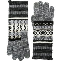 Smartwool Camp House Gloves (Medium Gray Heather) Extreme Cold Weather... ($40) ❤ liked on Polyvore featuring accessories, gloves, smartwool gloves and cold weather gloves