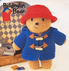 Items similar to amigurumi pattern crochet paddington bear pdf pattern on Etsy Crochet Diy, Crochet Amigurumi, Crochet Bear, Amigurumi Doll, Crochet For Kids, Crochet Dolls, Crochet Hats, Crochet Animals, Paddington Bear